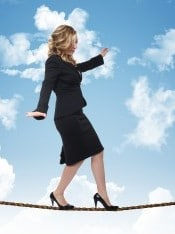 Keeping balance while walking tightrope with self-talk, mindset, healthy choices