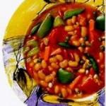 Mediterranean vegetable bean soup