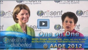 Karen Collins talks with Hope Warshaw of PRESENT Diabetes about diabetes & cancer