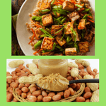 tofu and other forms of soyfoods, peanuts, are legumes but not pulses