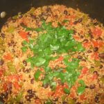 Quinoa and bean dish made in Wellness Cooking Class