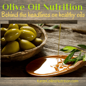 Olive oil is a healthy oil for a heart-healthy diet
